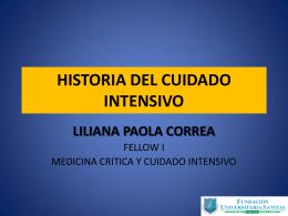 HISTORIA DEL CUIDADO INTENSIVO.