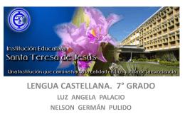 Presentación CASTELLANO 7° 2013