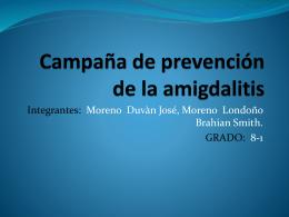 Campaña de prevención de la amigdalitis