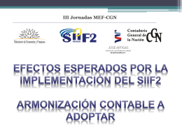 Efectos esperados por la implantación del SIIF2. Panel 4