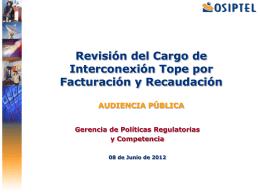 Cargo de Interconexión Tope por Acceso a la Plataforma