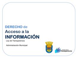 """Presentación Power Point tema """"Acceso a la información"""""""