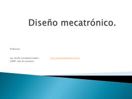 Diseño mecatrónico.