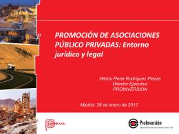 Promoción de Asociaciones Público Privadas
