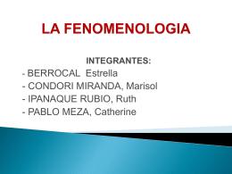 FENOMENOLOGIA GRUPO 3