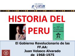 12. El Gobierno Revolucionarios de las FF.AA 1968-1980