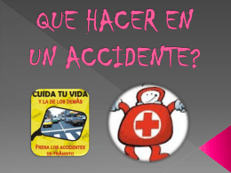 QUE HACER EN UN ACCIDENTE