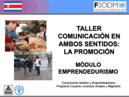 Promoción, PPTT - Territorios Centroamericanos