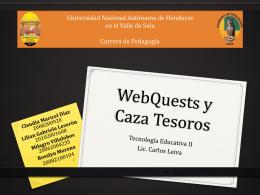 WebQuests - Infopeda Unah-VS