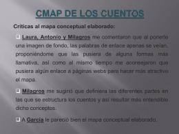 CMAP DE LOS CUENTOS Críticas al mapa conceptual elaborado