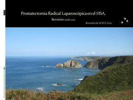 Prostatectomía Radical Laparoscópica en el HSA.
