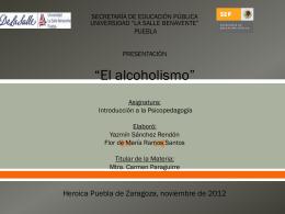 El Alcoholismo (570582) - Psicopedagogía-ULSA