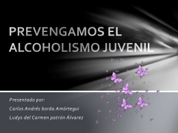 PREVENGAMOS EL ALCOHOLISMO JUVENIL - grafiluu60