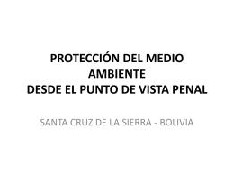 protección del medio ambiente desde el punto de