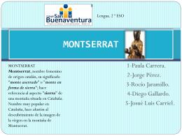 MONSERRAT. - Lengua y Literatura 2º ESO A