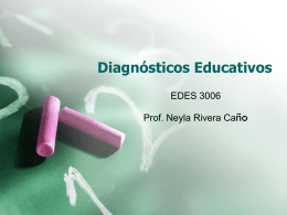 Diagnósticos Educativos