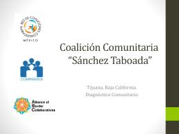 DIAGNOSTICO COMUNITARIO - Red de Coaliciones Comunitarias