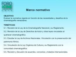 Mesa 5 – Marco Normativo - Foro Del Cine Venezolano