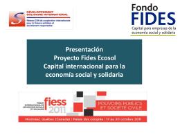 Descargar la presentación de FIDES ECOSOL