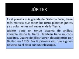 Júpiter es el planeta que gira más rápido sobre sí mismo en nuestro