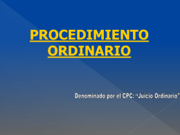 Procedimiento Ordinario. Etapa Discusion