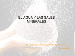 Tema 2 Agua y Sales Minerales