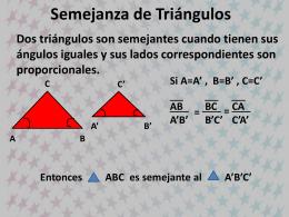 Geo 18 semejanza de triángulos