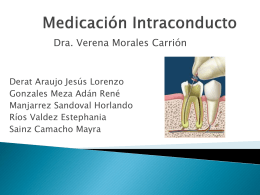 Medicación Intraconducto.