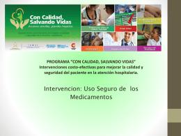 Presentación uso seguro de los medicamentos