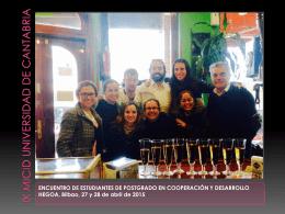 Presentación IX MICID - Universidad de Cantabria