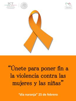 Únete para poner fin a la violencia contra las mujeres y las niñas