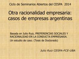 Otra racionalidad empresaria: casos de empresas argentinas