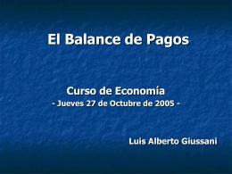 El Balance de Pagos