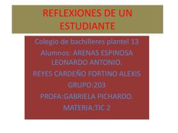 REFLEXIONES DE UN ESTUDIANTE