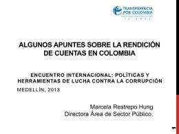 La Rendición de Cuentas en Colombia