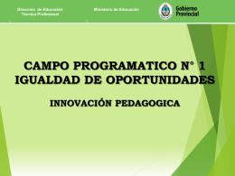 Igualdad de Oportunidades - Dirección de Educación Técnico