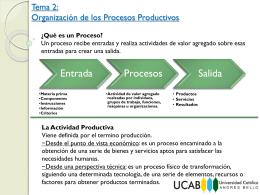 Organización de los Procesos Productivos - Gerencia