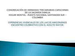 CONGREGACIÓN DE HERMANAS TERCIARIARIAS CAPUCHINAS