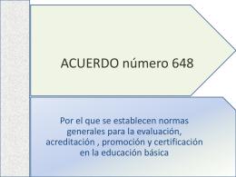 ACUERDO número 648