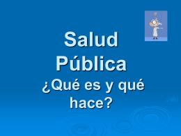 Salud pública ¿Qué es y qué hace?