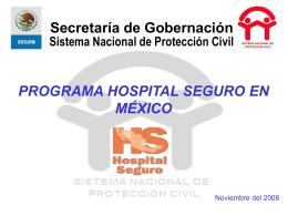 Hospitales Seguros en Mexico