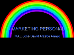 MARKETING PERSONAL • Una cosa es salir a venderte