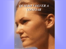 QUIERO VOLVER A CONFIAR
