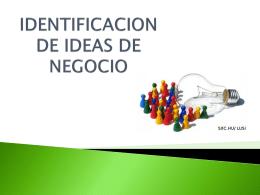 IDENTIFICACION DE IDEAS DE NEGOCIO