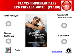PLANES EMPRESARIALES RED PRIVADA MOVIL ( CLARO)