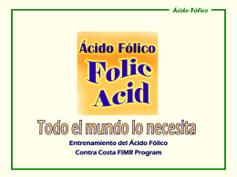 Folic Acid Training - Contra Costa Health Services