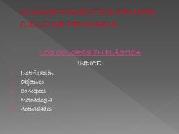 UNIDAD DIDÁCTICA PRIMER CICLO DE PRIMARIA