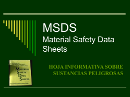 MSDS Material Safety Data Sheets - Geco -