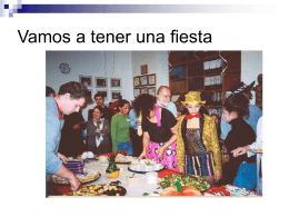 Vamos a tener una fiesta - Faculty Website Index