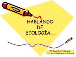 HABLANDO DE ECOLOGÍA….